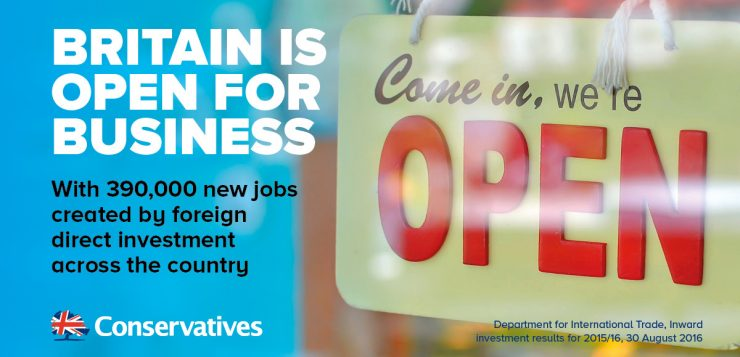 Britain is open for business
